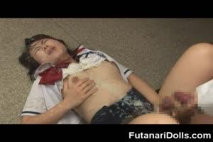 Futanari Schoolgirls Cum Soaked