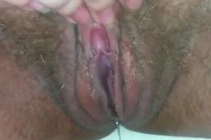 Soaking Wet Hairy Mature Pussy