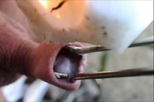 Public Foreskin Wax Torture