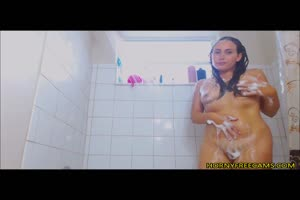 Watch My Stepmom Having Morning Shower