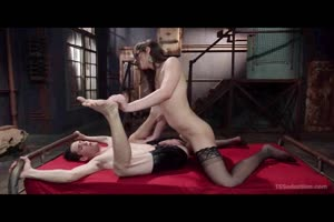 Tranny Domina Fucks Her Slave Boy!