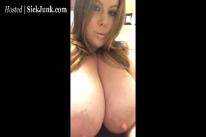 Lactating milf with huge boobs