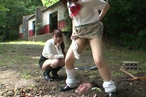 Buried Teacher Humiliated And Pissed On