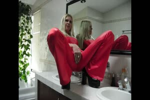 sadobitch - Red Panty Cameltoe Slut on clips-4-sale
