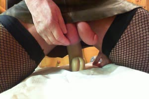 Big Dildo In Sissy Ass