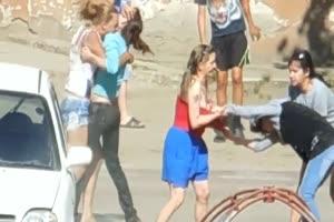 Brutal russian girls fight