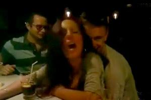 Girl Fucked In Crowded Bar In Madrid
