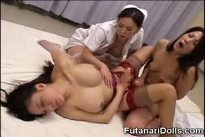 Futa Doctor Fucks Her Futanari Patient!
