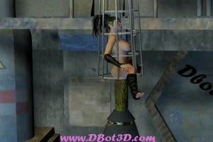 Droid pounding girl in cage