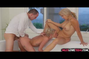Stepmom Joins Teens For a Threesome!