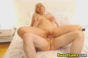 Blonde Babe Gets Banged By Her BF In A Famous Position