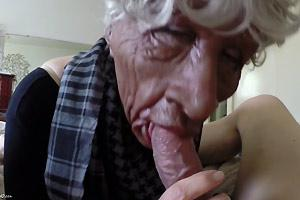 Fake Granny Sucking Real Penis