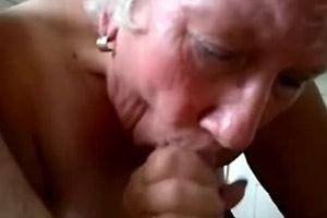 Grandma Giving A Blowjob