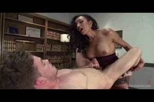 Tranny Domme Made Him Cum Like a Fountain!