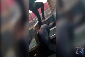 Woman Brutally Beat Man On Train