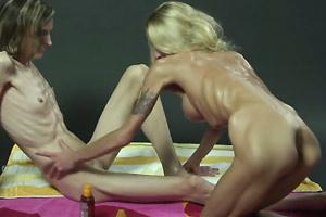 Extreme Skinny And Oiled