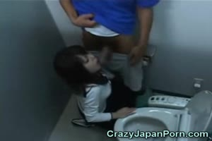 Japanese Teen Jizzed in Toilets!