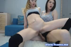 Hot Blonde Gets Creampied By Tranny