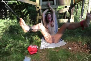 Tied Up Slut Abused Outdoor