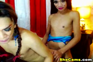 Asian Hot Shemales Gets Wild and Horny