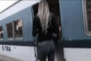 Tranny BJ ON Train
