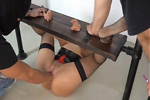 Restrained MILF Fisted And Abused
