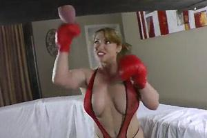 Busty Blonde Busting Balls