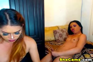 Shemale Duo Loves to Suck Cock