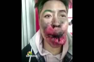 Exploded Mouth