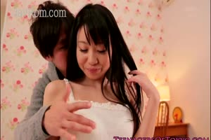 Bodacious japanese teen couple gets her hairy box licked while sucking cock