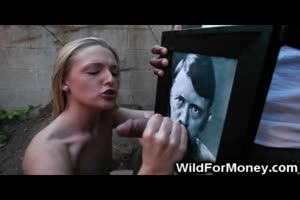 Funny WTF BBC Cums On Hitler!