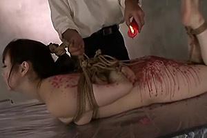 Bound Slave Wax Torture