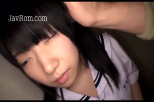 Hot Japanese woman gets her sweet snatch pleased with toys