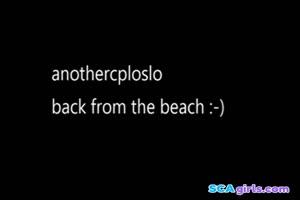 tilbake fra stranden
