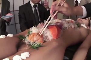 Naked Girl Sushi Bar