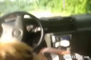 Blonde Anal Hooker Route Sex in My Car and Finished Happy