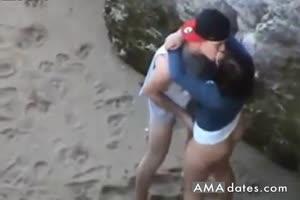 Couple caught fucking in public