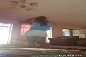 East African girl dancing again