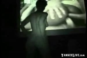 Naked Lady Exhibits in Porn Theater
