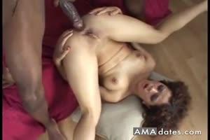 Huge Black cock ass fucking and cumming inside