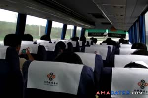 japanese bus tour with masturbation