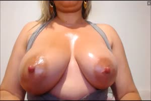 Squirty Latina Milks Big Natural Tits