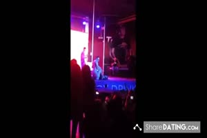 Girl Gets Fucked On Stage By Stripper